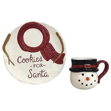 St. Nicholas Square Yuletide 2-pc. Snowman Cookies for Santa Set