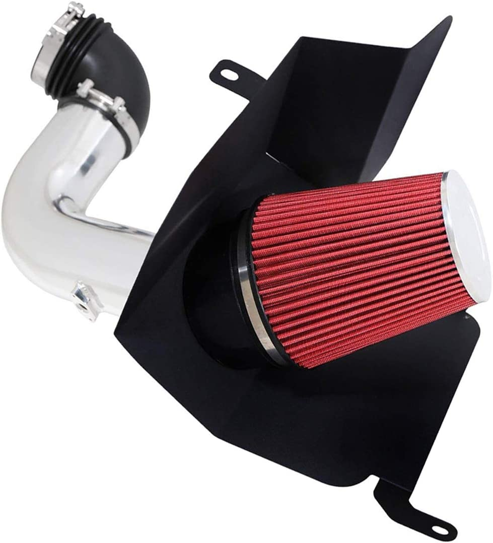 4 Intake Pipe Performance Cold Air Intake Induction Kit With Filter For 2003 2004 2005 2006 2007 Dodge Ram 2500//3500 5.9L red