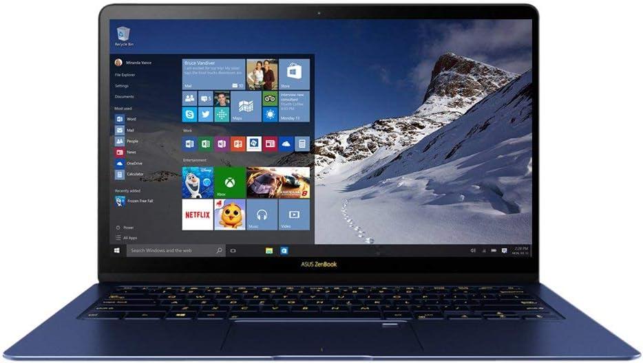 ASUS ZenBook 3 Deluxe Ultraportable Laptop, 14in Full HD , Intel Core i7-8550U, 16GB RAM Processor, 512GB NVMe SSD, Windows 10 Pro, Royal Blue, UX490UA (Renewed)