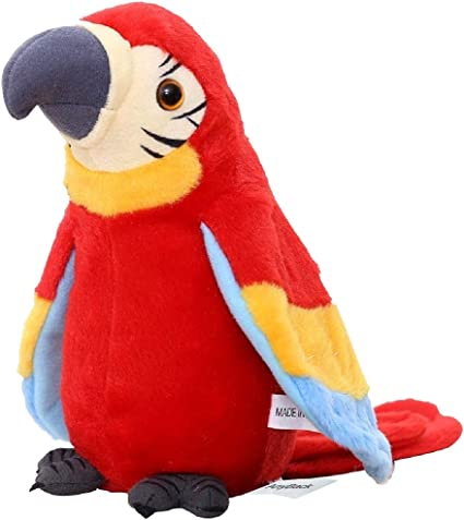 Amazon Com Anyback Electronic Stuffed Talking Plush Animals Pets Toys Parrot Talking Parrot Electric Plush Cute Mimicry Pet Animal Repeating Toy Stuffed Animals Toys For Kids Boys Girls Toddlers 1 Pack Red Toys