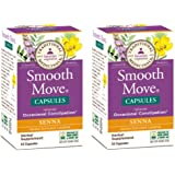 Traditional Medicinals Smooth Move Senna Capsules, 50-Count Bottle (Pack of 2)