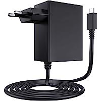 EXTSUD oplader voor Nintendo Switch 15 V 2,6 A USB voeding type C AC adapter snellader voor Nintendo Switch lader compatibel met Switch en Switch Lite, ondersteunt TV-modus
