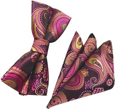 Westeng Papillon Avec Mouchoir En Polyester Noeud Ajustable