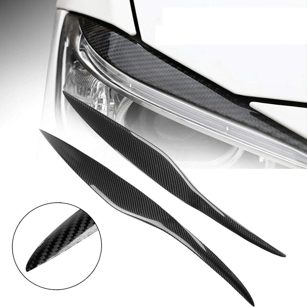 Lopbinte Carbon Fiber Headlight Eyebrows Cover Trim for Fiesta MARK VI Pre-Facelift 2009-2012