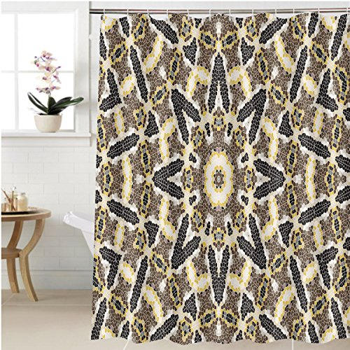Gzhihine Shower curtain illustration of mosaic images an abstract pattern kaleidoscope the finishes of the floors and Bathroom Accessories 36 x 72 inches - 85 Textured Rust Finish
