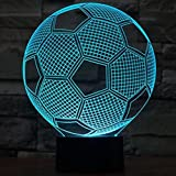 Boweike European Championship Football Soccer 3D Visualization Glow LED Lamp Optical Illusion Night Light Home Decor