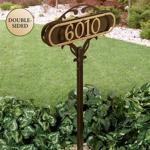 Touch Of Class Metal Paris House Number Yard Stake Gold/Bronze Yard