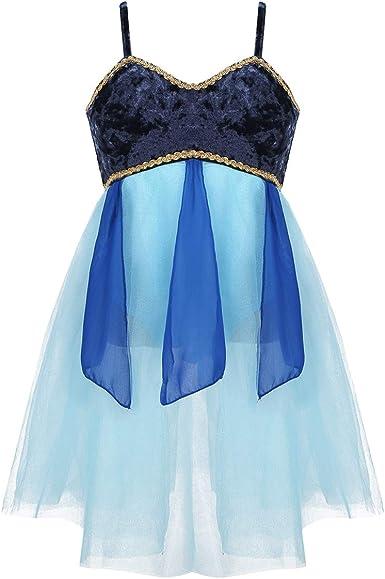 IEFIEL Vestido de Danza Lírica para Niña Maillot con Falda de ...
