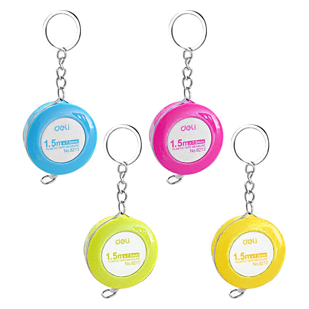 Scettar 4 Pack Soft Tape Measure, 4 Colors,60 inch,1.5m, Push Button Measuring Tape, Body Measuring Soft Tape…