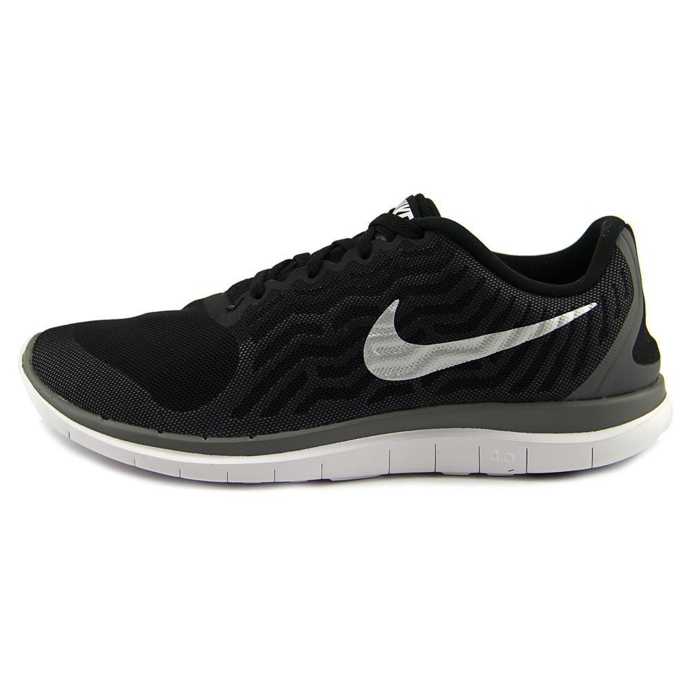 separation shoes 7c061 47c8b Amazon.com   Nike Mens Free 4.0 V5 Running Shoe Black Metallic Silver Cool  Grey 717988-001 (7.5)   Road Running