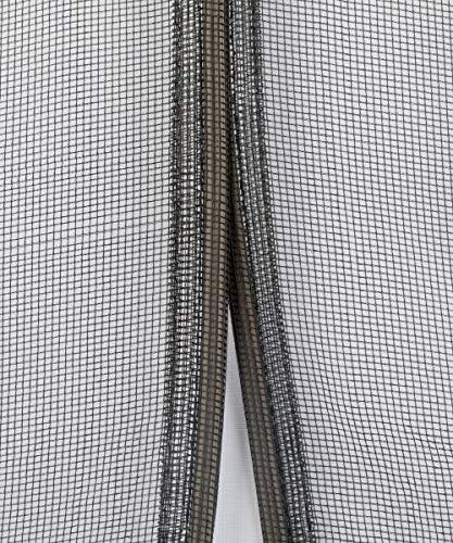 Schellenberg 50643 Magnetvorhang 120 x 240 cm Insektenschutz Vorhang Anthrazit