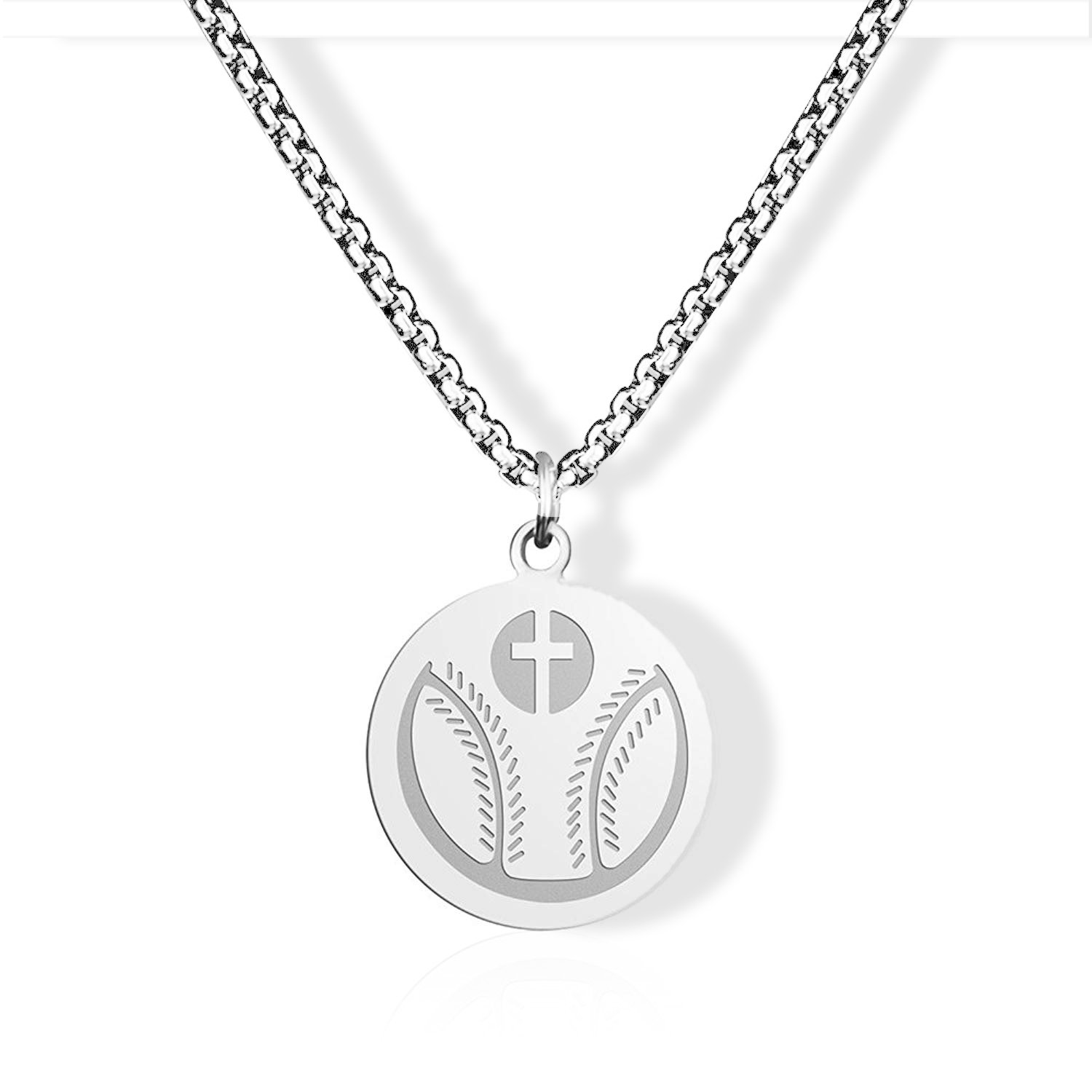Athletes Cross Necklace by Pendant Sports With an Inspiring Luke 1:37 Bible Verse on Back Available in Basketball Baseball with Bible Verse Pendant Necklace Gift for Son Birthday