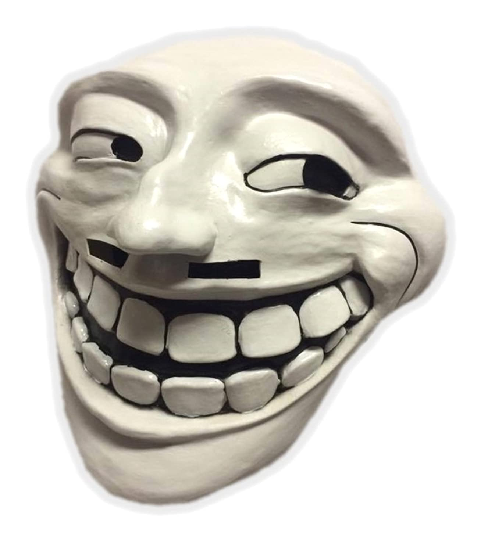 61QGw6hzExL._UL1500_ amazon com trollface rage comic meme mask perfect for halloween