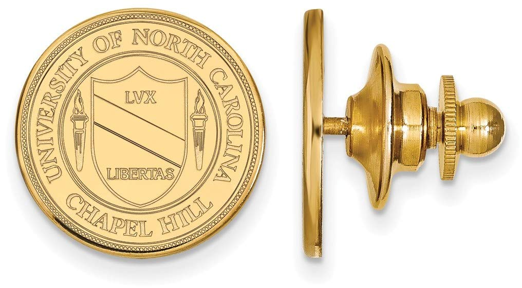 14K Yellow Gold University of North Carolina Crest Tie Tac by LogoArt