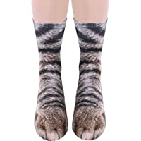 Funny Animal Paw Socks Gag Gifts for White Elephant Gift Exchange