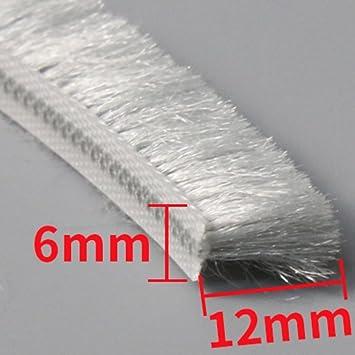 Sliding Winow Door Brush Seal Insert Wool Pile Weather Stripping Waterproof 13x6mm 10 Meters 32.8 Feet Gray