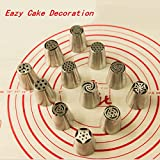 12pcs Russian Tulip Nozzle Perfect for Cake Cupcake Decorating Tools Icing Piping Nozzles Rose Nozzles Tips