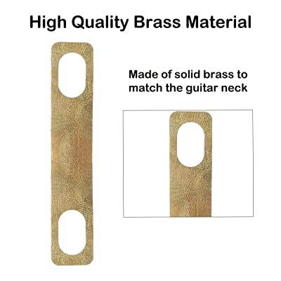 4pcs Neck Shims for Guitar Made of Brass for Bolt-on Neck