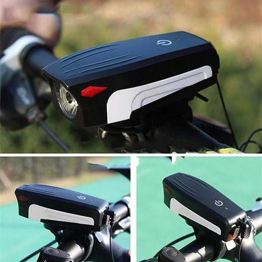 BUG-L Timbre Para Bicicleta,Luz De Bocina De Bicicleta Usb De ...