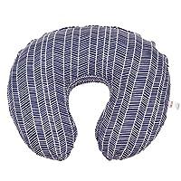 Funda de almohada para amamantar de maternidad por Danha-Newborn Cojín de alimentación para bebés Funda con forma de dona linda Almohada de cuña-Mejor soporte infantil- para las nuevas mamás de azul marino-azul marino Estampado de espiga Funda suave