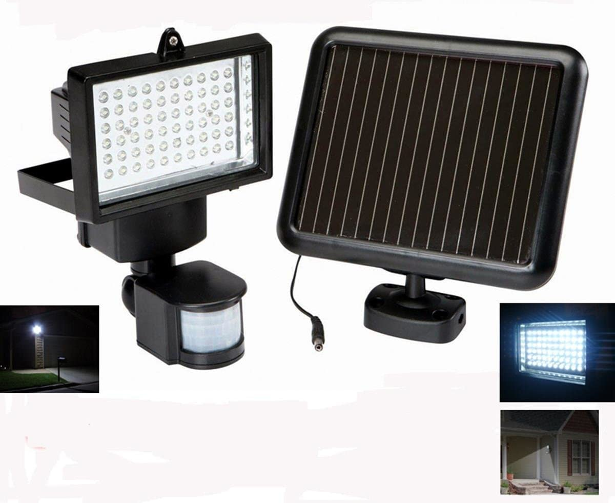 GSL SS-GSL-TG5010 Bright 60 LED Garage Sensor Security Solar Light