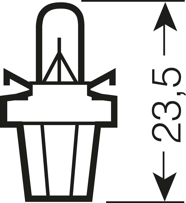 10x OSRAM GL/ÜHBIRNEN 12V 1,2W B8.5d INSTRUMENTENBELEUCHTUNG ANZEIGELAMPE