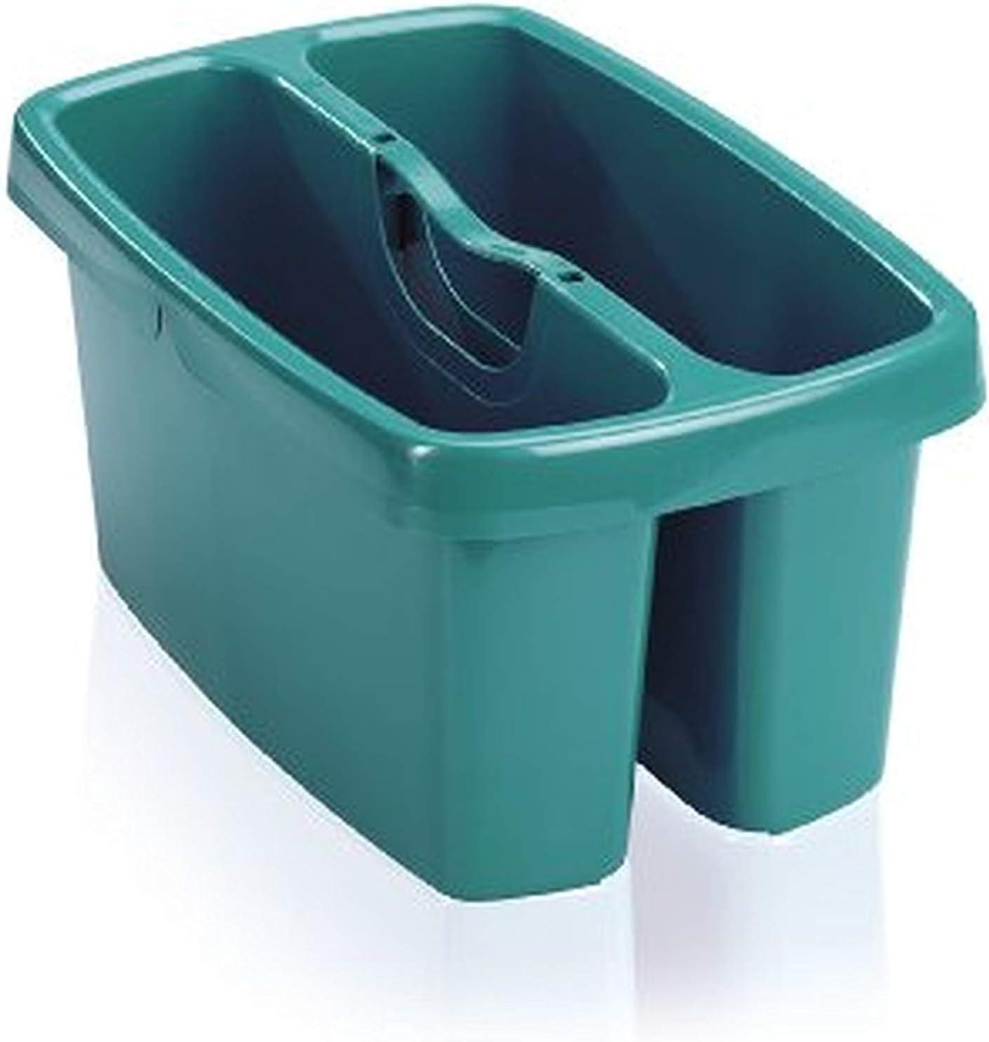 Leifheit Combi Box - Caja para Utensilios de Limpieza de plástico, 36.5x23.6x18.4 cm, Color Verde
