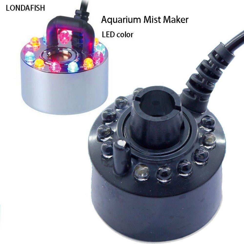 LONDAFISH Humidificateur d'air d'aquarium de fontaine d'eau de Fogger de fontaine de brume de fontaine de LED