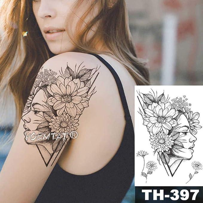 adgkitb 3 Piezas Impermeable Tatuaje Temporal Pegatina Tatuaje ...