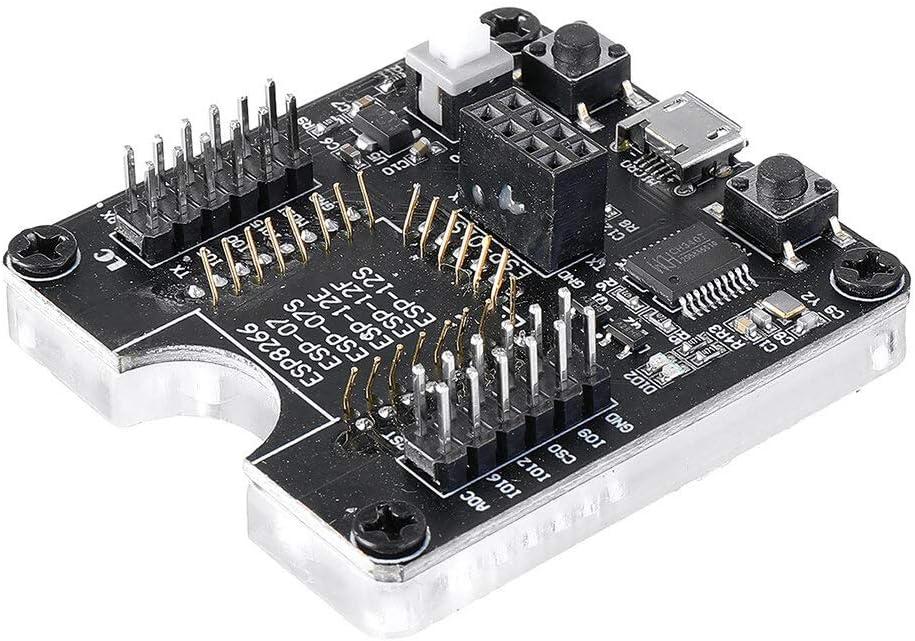 KEPUSHIYE DIY Zubeh/ör ESP8266 Test Board Burner Development Board WiFi-Modul for ESP-01 ESP-01S ESP-12E ESP-12F ESP-12S ESP-18T F/ÜR Mikrocontroller