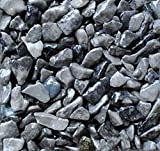 """Safe & Non-Toxic {0.12"""" to 0.38"""" Inch} 10 Pound Bag of Marble, Gravel & Pebbles Decor for Freshwater Aquarium w/ Modern Elegant Simple Natural Dark Sleek River Inspired Earthy Style [Gray]"""