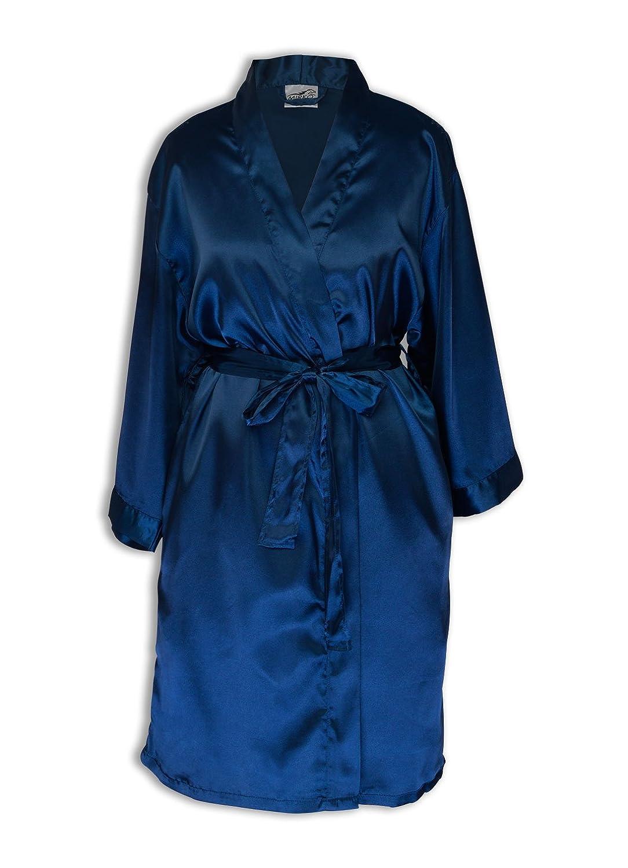 TowelBathrobe Women's Kimono Satin Robe Satin Lounge Bridesmaids Short Robe