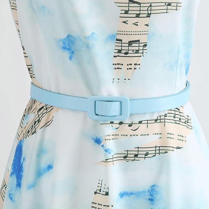Vestido para mujer, estilo retro, estilo Hepburn, con impresión de notas musicales, cintura, vestido fino, vestido de fiesta de noche, baile de graduación, ...