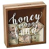 Design Imports Honeymoon Fund Wedding Wood Bank Shadow Box, 11.75 x 10 inches