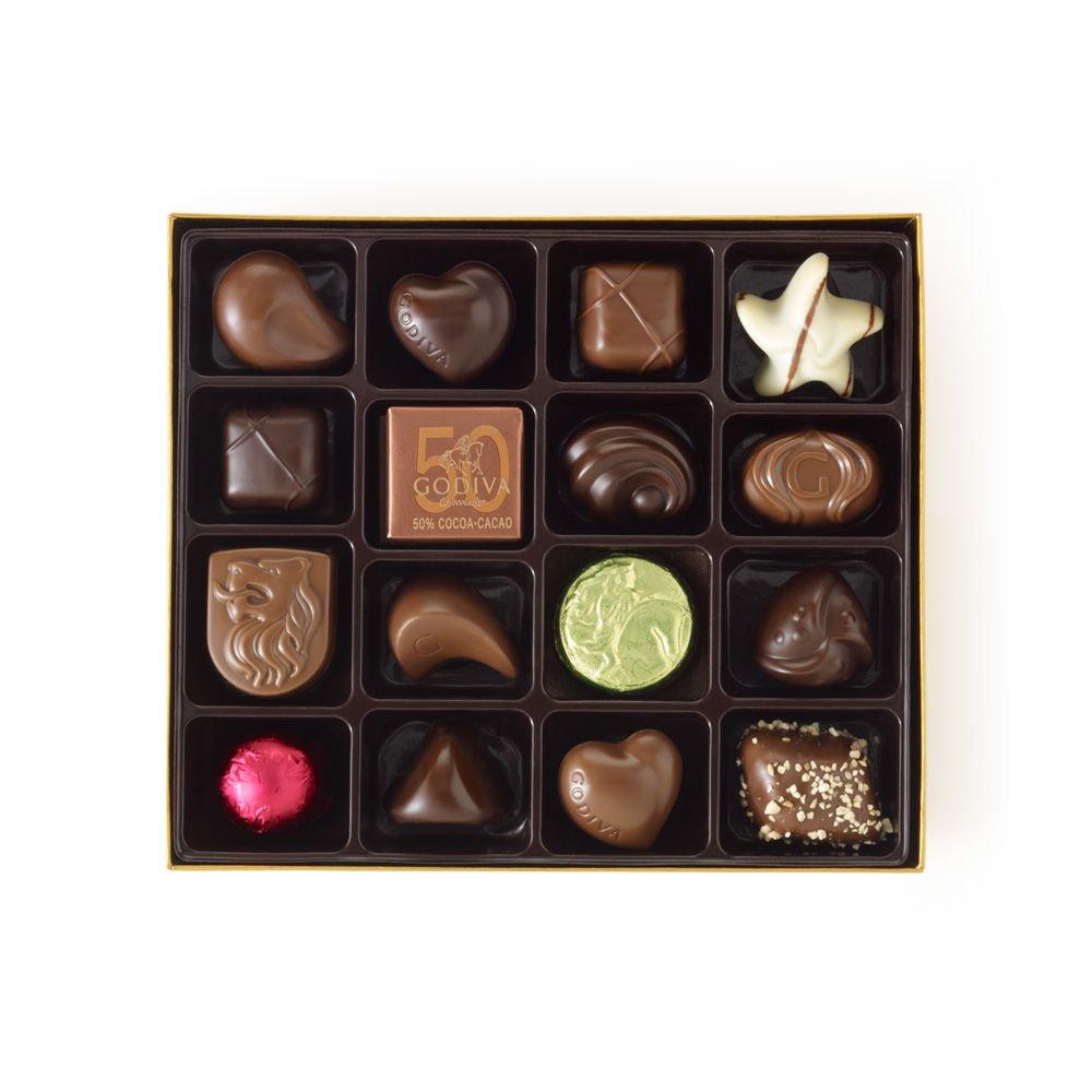 Godiva Chocolatier Gold Ballotin Candy, Happy Birthday, 19 Count by GODIVA Chocolatier (Image #2)
