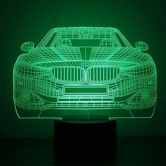 Zyyymx Neue Bmw 3d Bunte Led Kleines Nachtlicht Smart Home Usb Power