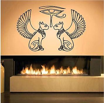89X57cm Egipto Gatos Ojo Ra Pegatinas de pared para la sala de ...