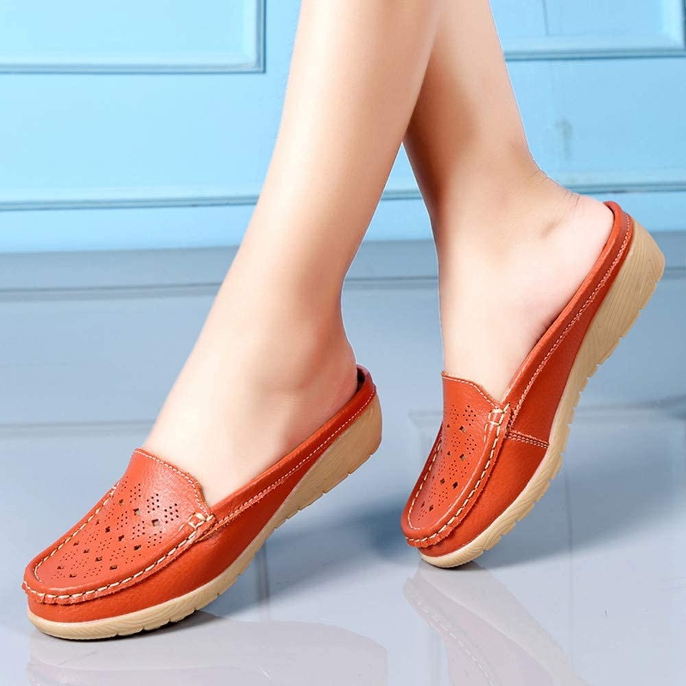 CmmYYrei Women Wedges Slipper Loafers Flat Shoes Casual Slip On Peas Shoes Soft Driving Shoes Boat Flats Footwear