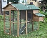 Ardinbir Deluxe 79'' Wood Chicken Coop Backyard Hen Run House 4-6 Chicken Nesting box