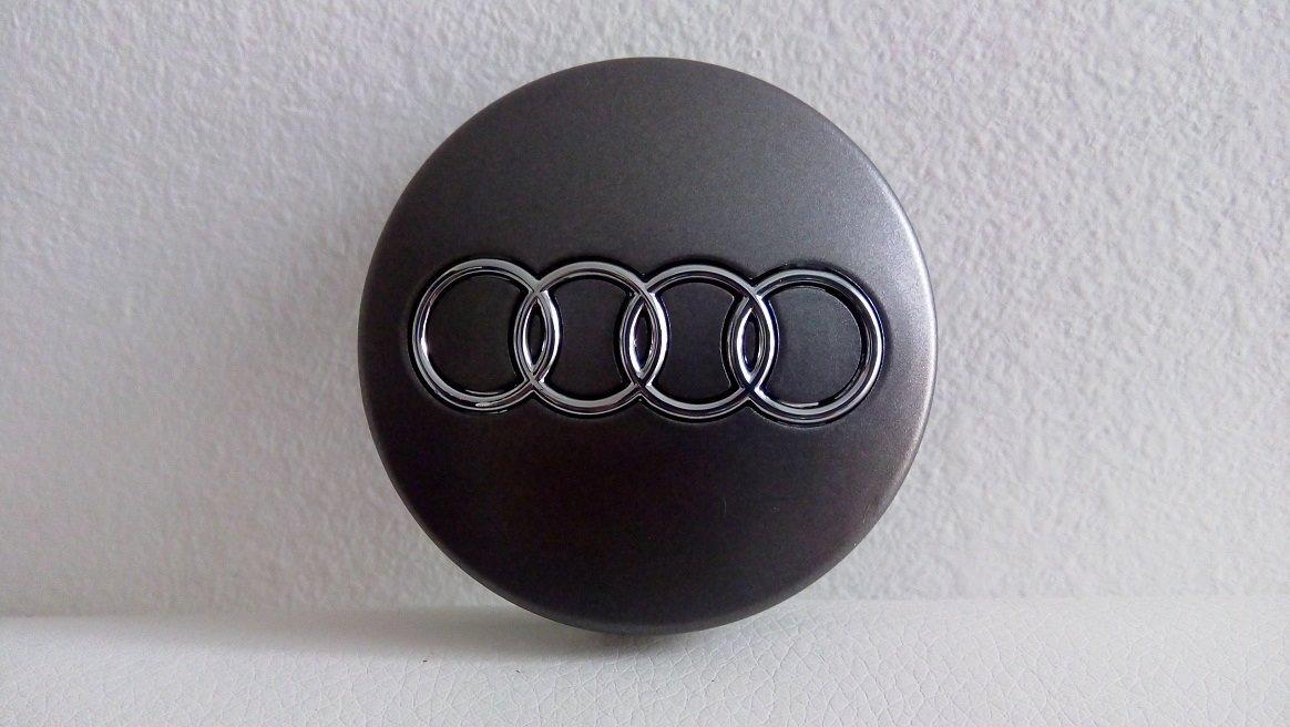 4 tapas de llanta de 60 mm para Audi color gris//cromo