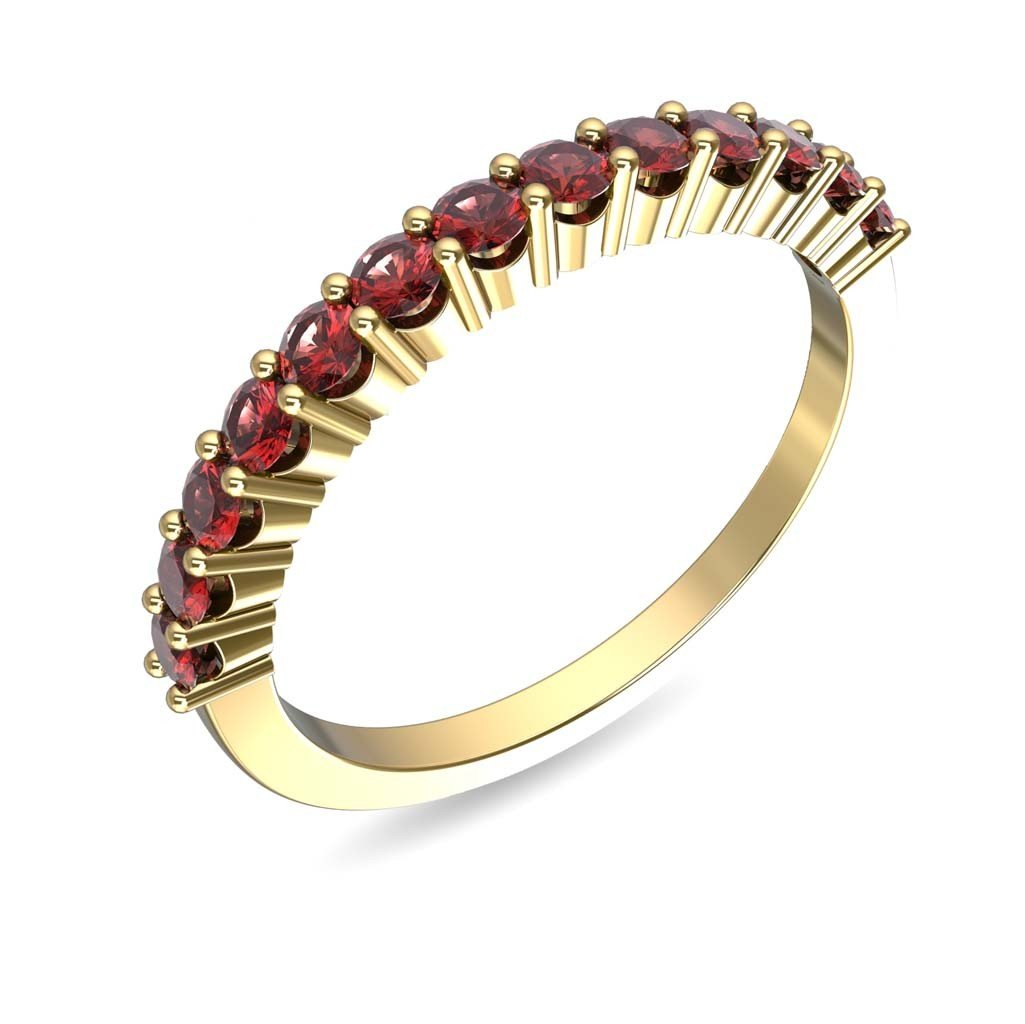 14Kt Solid Yellow Gold Ruby Engagement Ring, Clarity i2 EGL/IGL Certified Hallmarked