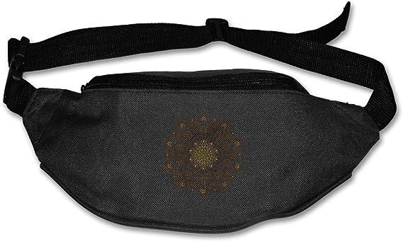 Mandala Fashion - Riñonera para Correr (algodón, Bolsa Duradera), Negro (Negro) - Black-48: Amazon.es: Equipaje