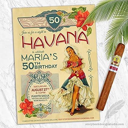 Amazon Com Havana Nights Birthday Party Invitations Set Of 10