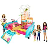 Barbie Ultimate Puppy Mobile and 4 Doll Gift Set