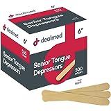 """Dealmed 6"""" Senior Tongue Depressors, Non-Sterile, 500 Count"""