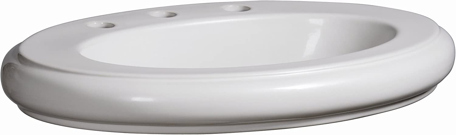 Danze DC017118WH Orrington 23-3 4-Inch Vitreous China Self Rimming Lavatory, White