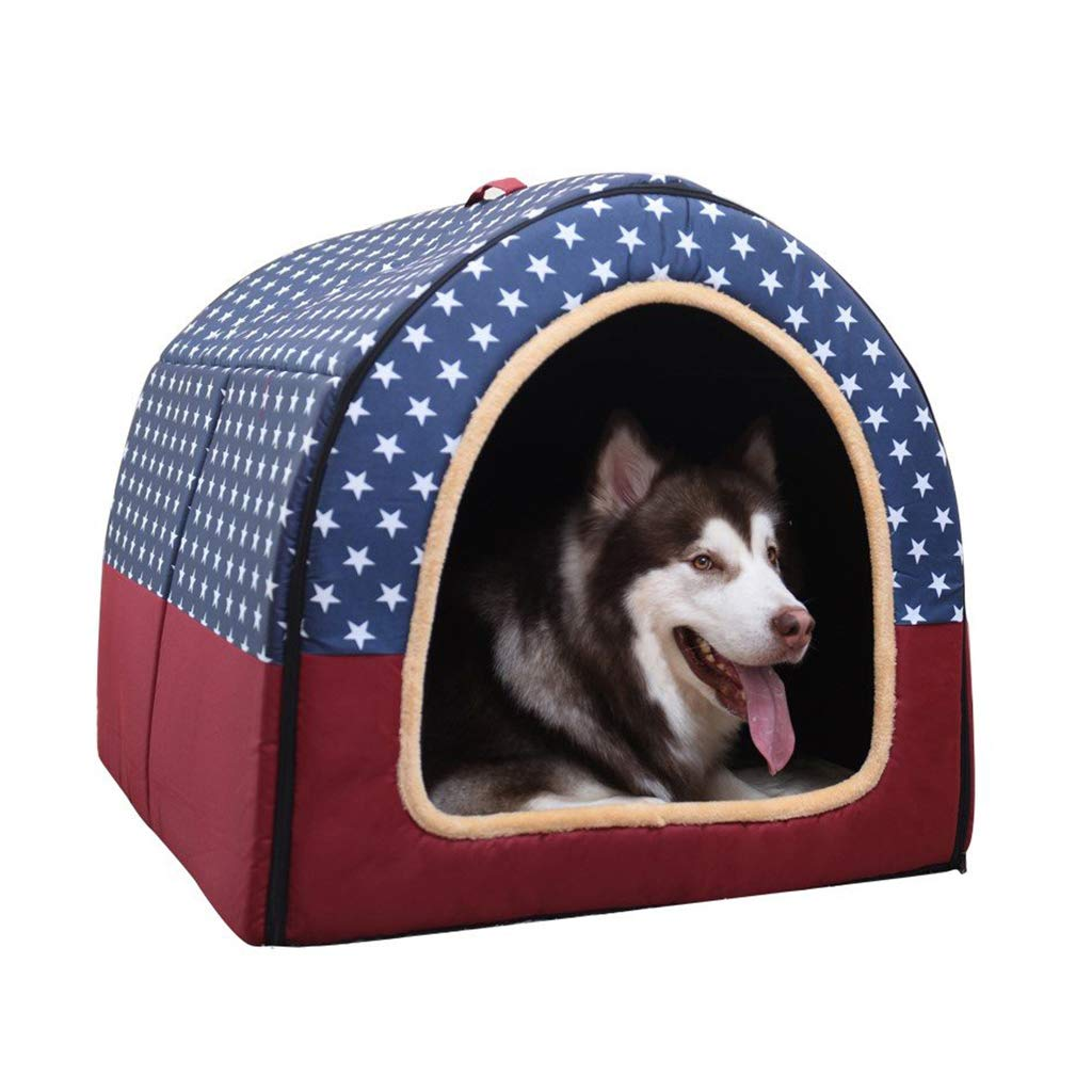 A L-6048cm A L-6048cm ZXCC Extra Large Kennel Washable Dog Kennel Pet Winter Warm Small Home (color   A, Size   L-60  48cm)