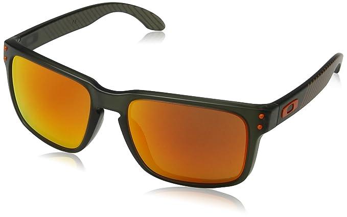 Oakley 9102E7 55, Gafas de Sol para Hombre, Verde (Matte Olive Ink/