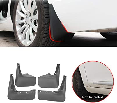 Mudguards High Quality Soft Plastic Front and Rear Wheel Splash Guards 4pcs//Set for Mitsubishi Outlander 2019 Car-Styling Color: 3