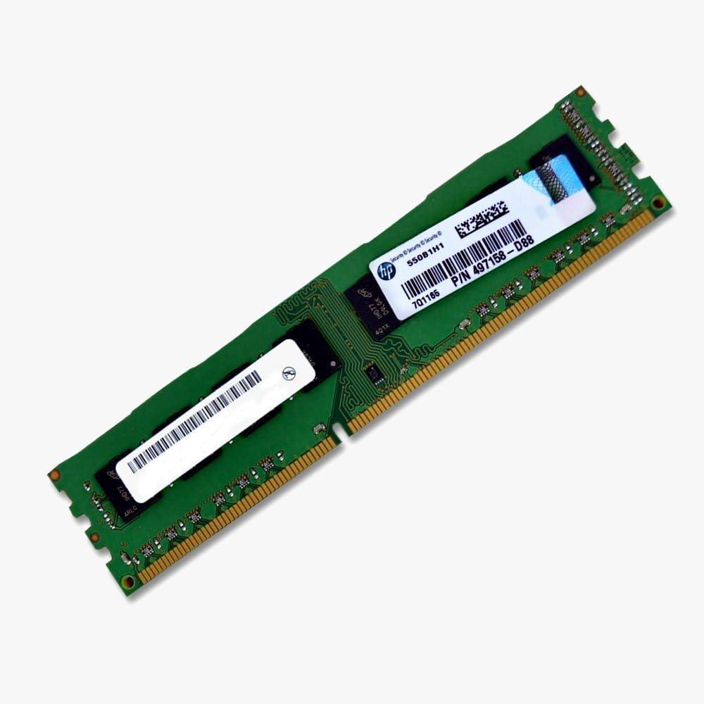 HP 497158-D88 DIMM, 4GB, PC3-10600, 9-9-9, DPC
